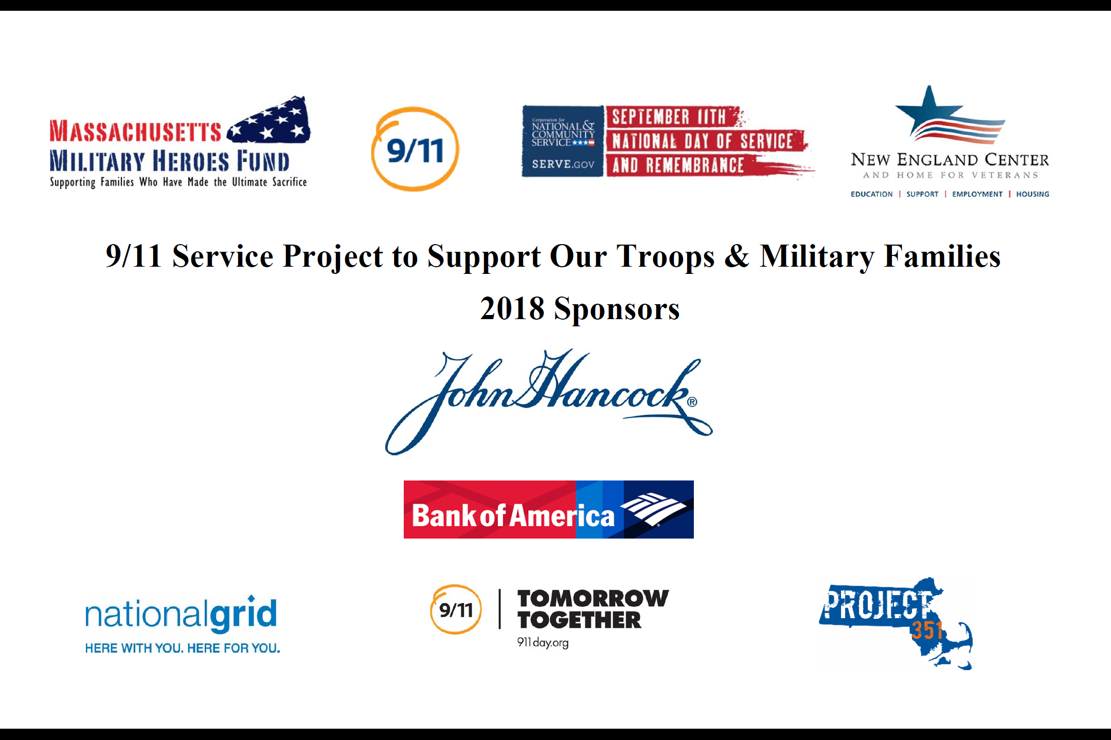9 11 Service Project To Support Our Troops Families